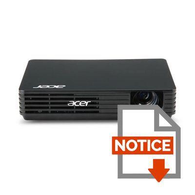 Mode d'emploi ACER C120 Vidéoprojecteur LED WVGA