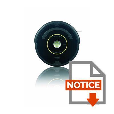 Mode d'emploi iROBOT Roomba 650 - Aspirateur robot - 33W - 61 dB - Noir