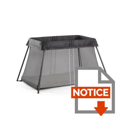 babybjorn lit parapluie noir achat vente lit pliant 7317680402806 cdiscount. Black Bedroom Furniture Sets. Home Design Ideas