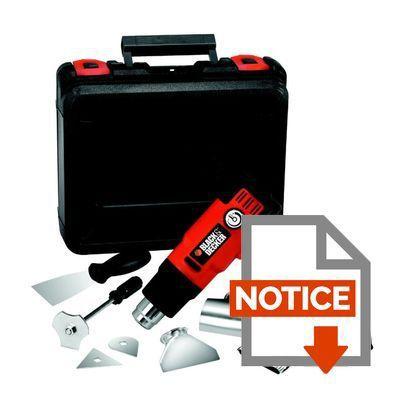 Black decker d capeur thermique kx2200k 2000w achat vente d capeur m tal plastique cdiscount - Decapeur thermique black et decker ...