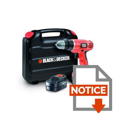 Mode d'emploi BLACK & DECKER Perceuse sans fil EPC12CABK 2x12V