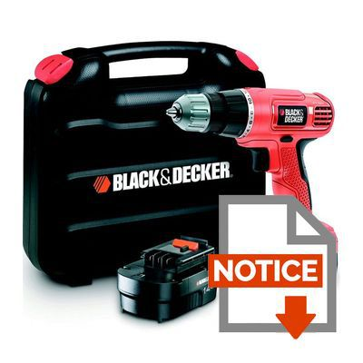 black decker perceuse visseuse sans fil 2x14 4v 1 3ah achat vente perceuse perceuse sans. Black Bedroom Furniture Sets. Home Design Ideas