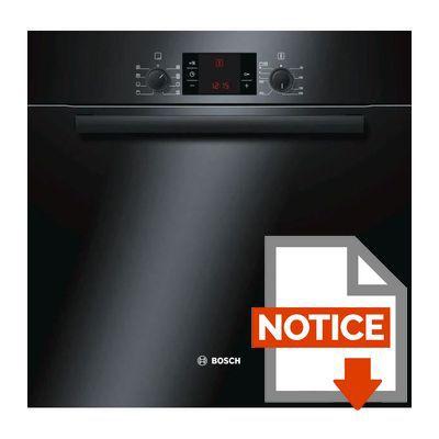 bosch hba 63 b 265 f four lectrique encastrable multifonction chaleur tournante 65l. Black Bedroom Furniture Sets. Home Design Ideas