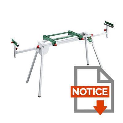 Mode d'emploi BOSCH Table de sciage PTA 2400