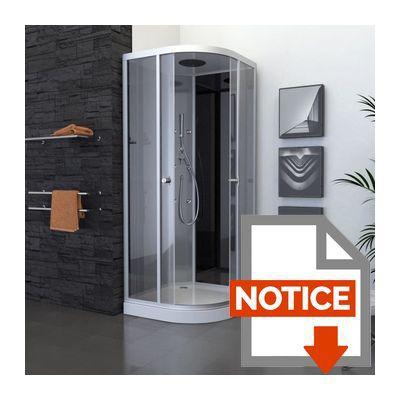 aurlane cabine de douche colors black round 90x90cm. Black Bedroom Furniture Sets. Home Design Ideas