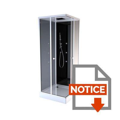 Aurlane cabine de douche colors black square 90x90cm achat vente cabine d - Notice cabine de douche ...
