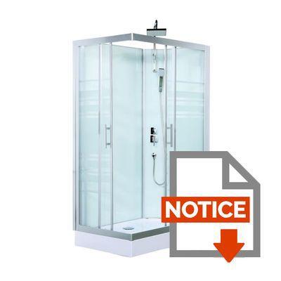 Gelco cabine de douche int grale trend 80x120cm achat for Cabine de douche sans porte