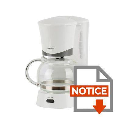 Oceanic oceacf6w cafeti re filtre blanc achat vente cafeti re cdiscount - Detartrage cafetiere au vinaigre blanc ...