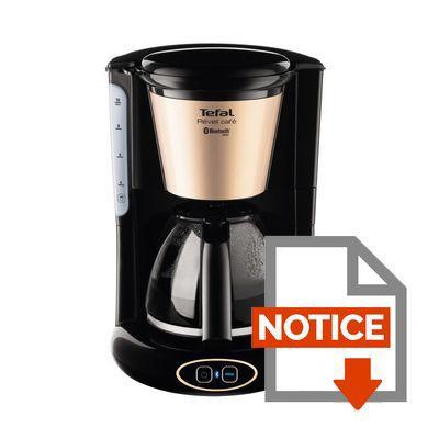 tefal cm450800 cafeti re filtre connect e noir achat vente cafeti re les soldes sur. Black Bedroom Furniture Sets. Home Design Ideas