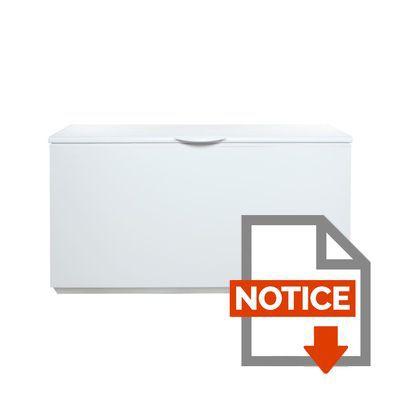 Mode d'emploi CONTINENTAL EDISON CC495AP - Congélateur coffre - 495L - Froid statique - A+ - L 160cm x H 87cm - Blanc