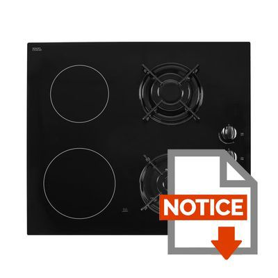 Continental edison cecpm2g2 table de cuisson mixte gaz - Table de cuisson mixte gaz vitroceramique ...