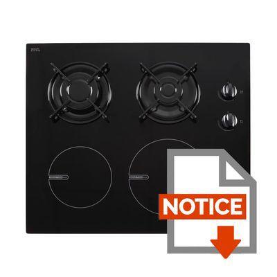 continental edison cecpm2g2i table de cuisson mixte gaz induction 4 foyers rev tement verre. Black Bedroom Furniture Sets. Home Design Ideas