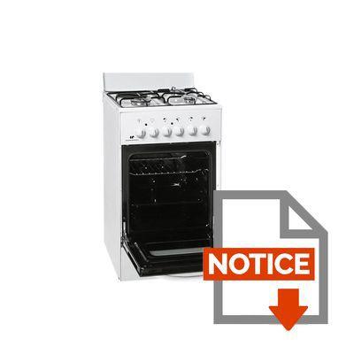 Mode d'emploi CONTINENTAL EDISON FM5060SC - Cuisinière Mixte 57L