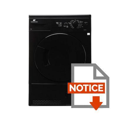 Mode d'emploi CONTINENTAL EDISON SLCE7B - Sèche linge - 7 kg - Condensation - Classe B - Blanc
