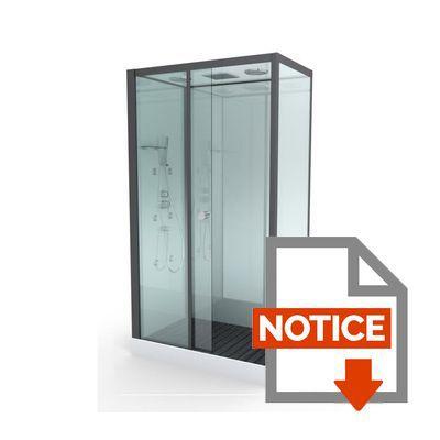 aurlane cabine de douche hydromassante rectangulaire achat vente cabine de douche cabine de. Black Bedroom Furniture Sets. Home Design Ideas