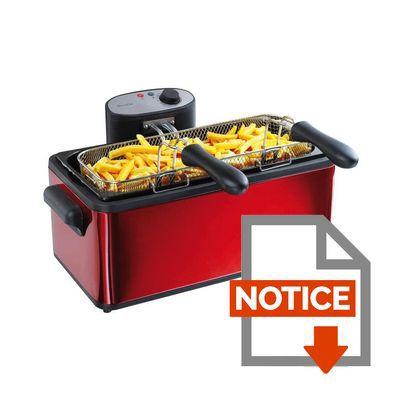 domoclip friteuse 2 paniers 6 l doc149 achat vente friteuse electrique les soldes sur. Black Bedroom Furniture Sets. Home Design Ideas