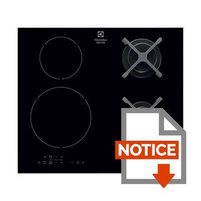electrolux egd6576nok table de cuisson mixte gaz induction 4 zones 4800w et 3700w l59. Black Bedroom Furniture Sets. Home Design Ideas