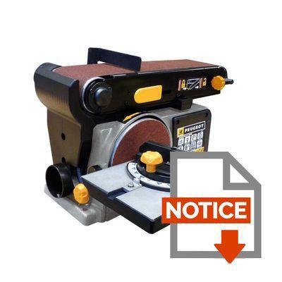 Mode d'emploi PEUGEOT Combiné ponceur 132342 EnergySand 150 915x100 mm 450 W
