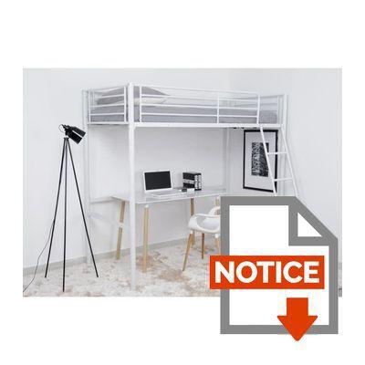 Finlandek lit mezzanine adulte leijona avec sommier style contemporain en - Notice lit mezzanine ...