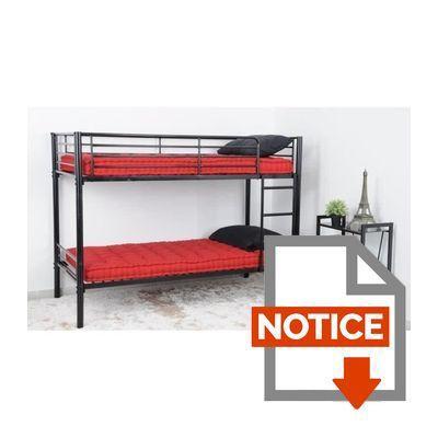 finlandek lit superpos enfant leijona style contemporain en tubes d 39 acier laqu s poxy noir. Black Bedroom Furniture Sets. Home Design Ideas