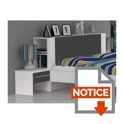 finlandek t te de lit pour lit 90 cm blanc pehmea achat. Black Bedroom Furniture Sets. Home Design Ideas