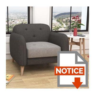 finlandek fauteuil viisto scandinave gris et anthracite achat vente fauteuil structure. Black Bedroom Furniture Sets. Home Design Ideas