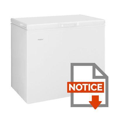 Mode d'emploi HAIER BD203RAA - Congélateur coffre - 203L - Froid statique - A+ - L 94cm x H 84,5cm - Blanc