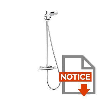 Hansgrohe colonne de douche semipipe raindance 150 s avec - Fonctionnement robinet thermostatique douche ...