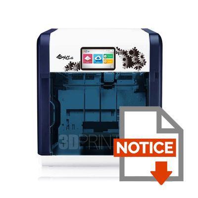 imprimante 3d xyz printing da vinci 1 1 plus prix pas cher cdiscount. Black Bedroom Furniture Sets. Home Design Ideas