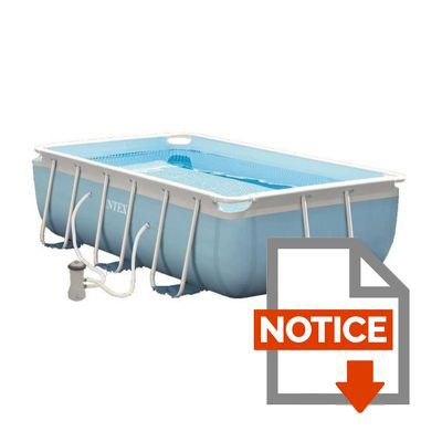 intex kit piscine tubulaire rectangulaire 300x175x80cm bleu achat vente piscine kit. Black Bedroom Furniture Sets. Home Design Ideas