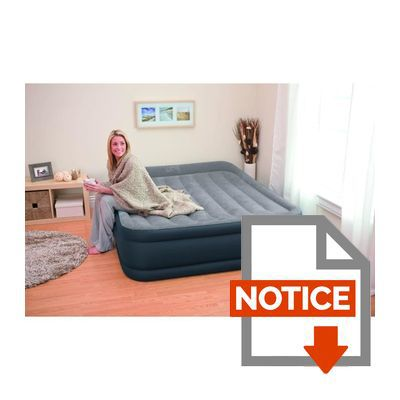 Intex matelas gonflable deluxe rest bed 152x203 cm - Matelas gonflable intex mode d emploi ...