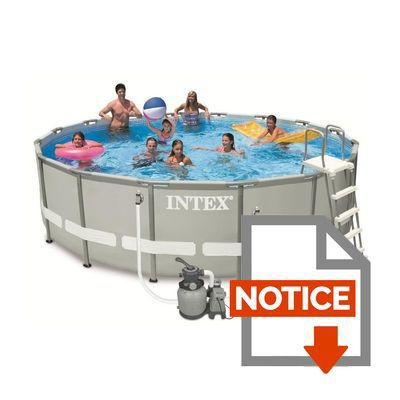 intex kit piscine tubulaire ronde ultra frame 4 88x1 22m achat vente piscine piscine ultra. Black Bedroom Furniture Sets. Home Design Ideas