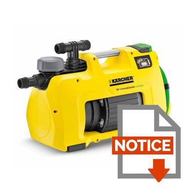 K rcher pompe de surface automatique bp4 home garden - Pompe arrosage automatique ...