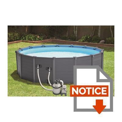 Intex kit piscine graphite 4 78x1 24m achat vente for Piscine graphite intex