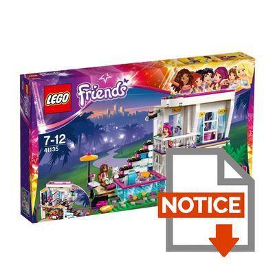 Lego friends 41135 la maison de la pop star livi achat - Notice de construction lego ...