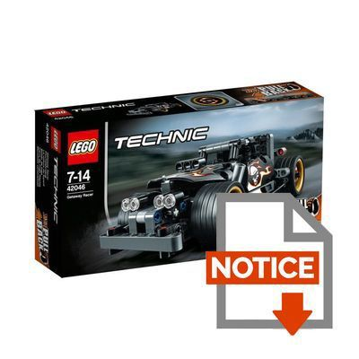 lego technic 42046 la voiture du fuyard achat vente assemblage construction cdiscount. Black Bedroom Furniture Sets. Home Design Ideas