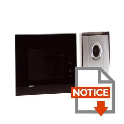 legrand visiophone cran 7 noir avec 1 poste ext rieur. Black Bedroom Furniture Sets. Home Design Ideas
