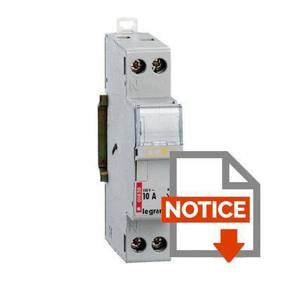 Legrand Porte-Fusible Modulaire 1 Phase + Neutre Pour Cartouches 10A