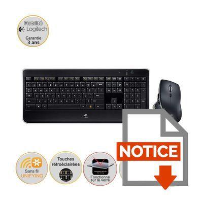 logitech pack clavier souris sans fil mx800 prix pas cher cdiscount. Black Bedroom Furniture Sets. Home Design Ideas