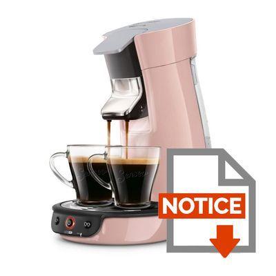 Mode d'emploi Machine à café à dosette -  SENSEO Viva Café HD7829/31 Rose poudre - technologie booster d'arômes - 0,9L