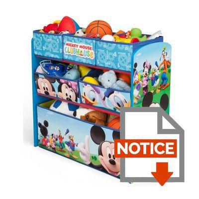 mickey meuble de rangement enfant jouets 6 bacs achat vente commode de chambre cdiscount. Black Bedroom Furniture Sets. Home Design Ideas