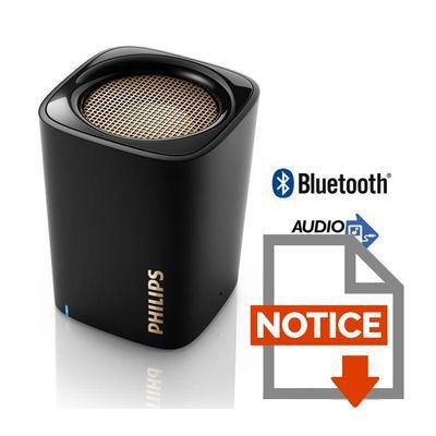 philips bt100b enceinte bluetooth portable noir. Black Bedroom Furniture Sets. Home Design Ideas