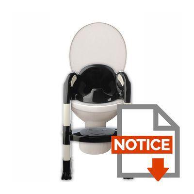 thermobaby r 233 ducteur de toilettes kiddyloo noir noir et blanc achat vente r 233 ducteur de wc