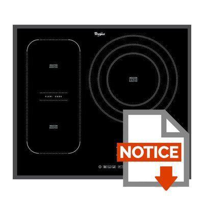 whirlpool acm846ba table de cuisson induction 3 zones 7400w l65 x p51cm rev tement. Black Bedroom Furniture Sets. Home Design Ideas