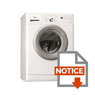 Mode d'emploi Whirlpool AWOD2850 Lave-linge frontal