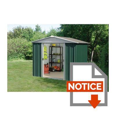 Yardmaster abri de jardin en m tal 5 25m achat vente - Notice de montage abri de jardin metal ...