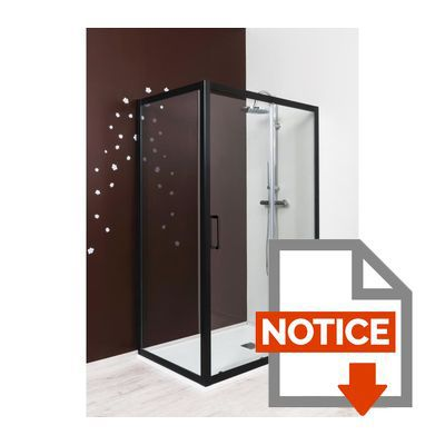 aqua porte de douche coulissante napa 120 cm verre tremp 6 mm noir achat vente porte. Black Bedroom Furniture Sets. Home Design Ideas