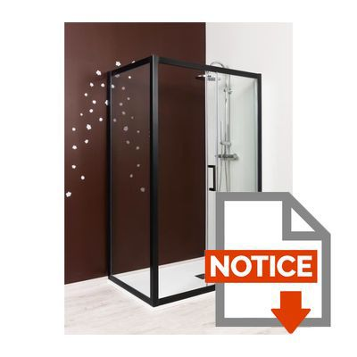 aqua porte de douche coulissante napa 140 cm verre tremp 6 mm noir achat vente porte. Black Bedroom Furniture Sets. Home Design Ideas