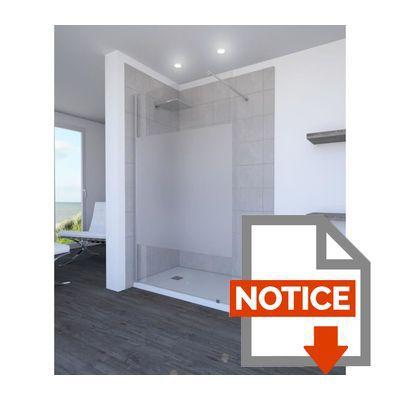 aurlane paroi de douche parma 8 mm 120cm d poli achat. Black Bedroom Furniture Sets. Home Design Ideas