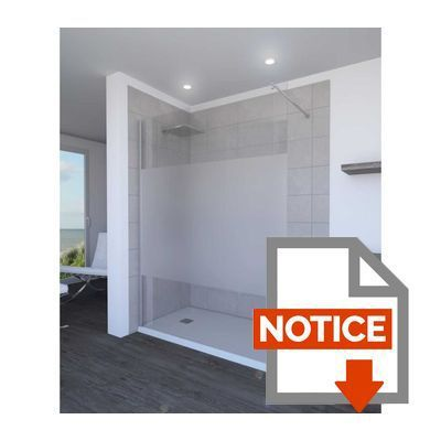 aurlane paroi de douche parma 8 mm 140 cm d poli achat. Black Bedroom Furniture Sets. Home Design Ideas